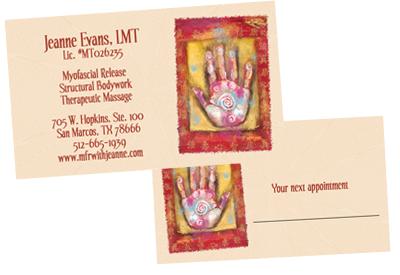 Q2 design business cards custom designed austin texas texas massage therapist 1 colourmoves Choice Image