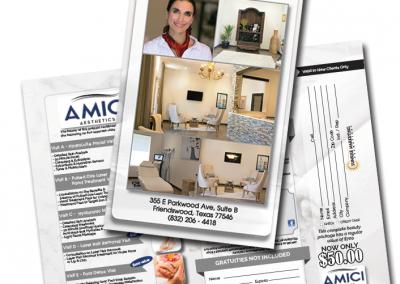 Amici Aesthetics brochure