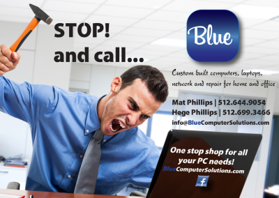 Blue Computer Solutions Post Card